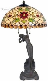 5845 T5719 Tafellamp  H66cm Jugendstil Dame Ø40cm Santana