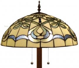9272G 9454 Vloerlamp Tiffany Ø50cm Ronde voet Blueribbon