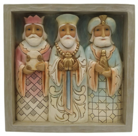 Plaque Three Kings 16x16cm Jim Shore 6009563