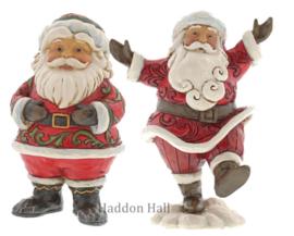 Set van 2 Santas H12,5cm Jim Shore