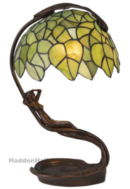 6098 Tafellamp Tiffany H42cm Lady with Green Leaves