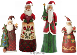 """Folklore Santa's"" Set van 4 Jim Shore"