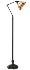 5968 Vloerlamp Verstelbaar met Tiffany kap Ø25cm Stricta