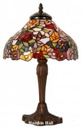 1130 Tafellamp Tiffany H40cm Ø26cm Milflores