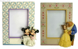 Set van 2 Photoframe Mickey & Minnie - Belle & The Beast H18cm Jim Shore