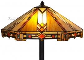 5423 5564  Vloerlamp Tiffany Ø58cm Durban Vierkante voet Zwart