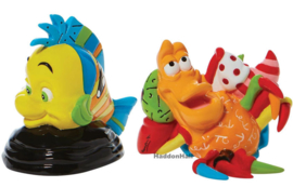 Flounder & Sebastian Set van 2 Figurines H8cm Disney by Britto