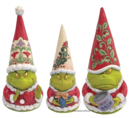 Set van 3 Grinch Gnomes H20cm- Heart - Presenst - Who Wash - Jim Shore