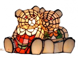 "7800 Tiffany lamp H18cm B30cm  ""Teddy beren"""
