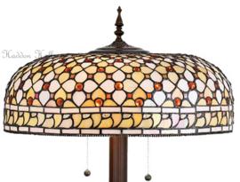 T021 9454 Vloerlamp H154cm met Tiffany kap Ø45cm Mille Feux