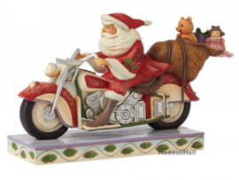 Santa Ridding Motorcycle  - Jim Shore 6008883