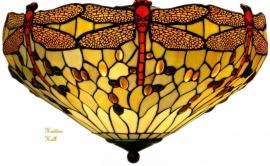 1102 80 Plafonniere Tiffany Ø48 cm Beige Dragonfly