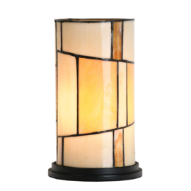 8162 Tafellamp Tiffany H25cm Roundabout