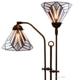 5899 Vloerlamp met 2 Tiffany kappen Ø25cm Astoria Brown