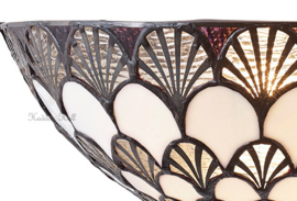 70394 Wandlamp Tiffany B30cm Schelpmodel Missori