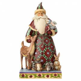 Santa's Creature Comforts -Santa with Woodland Animals - H27,5cm Jim Shore 4060146