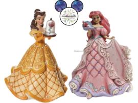 Belle & Ariel - H38cm! - Set van 2 Jim Shore Deluxe Figurines