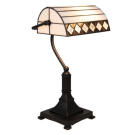 T4 5196 Bureaulamp Bankierslamp H42cm met Tiffany kap Fargo