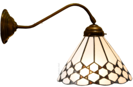 5893 Wandlamp met Tiffany kap Ø25cm Wilson