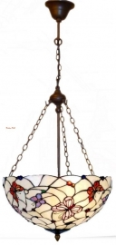 5365 8842 Hanglamp Tiffany Ø40cm Pink Butterfly