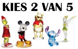 Set van 2 - Kies 2 van 5 Disney Facets Figurines H9cm