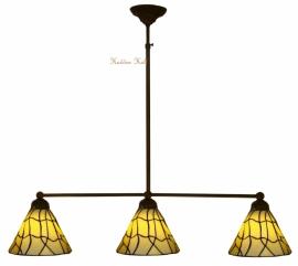5693 Hanglamp B90cm met 3 Tiffany kapjes Ø25cm