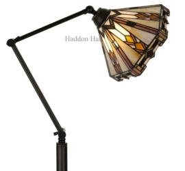 9113 Vloerlamp H175cm met Tiffany kap Ø25cm Durban