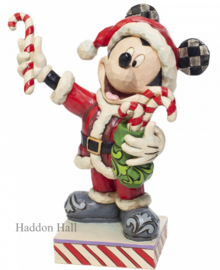 Mickey Mouse with Candy Canes H16cm Jim Shore 6007068
