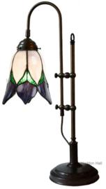 8103 Bureaulamp Verstelbaar H45-55cm Lovely Flower Purple