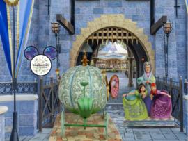 CINDERELLA Carriage , Lady Tremaine, Anastasia & Drizella - Set van 2 Jim Shore beelden