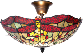 5848 Plafonniere Tiffany Ø40cm Multicolor Dragonfly