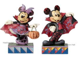 "MICKEY & MINNIE ""Vampire"" H16,5cm Jim Shore Disney Traditions"