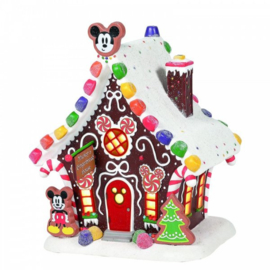 Mickey Mouse's Gingerbread House H20cm Disney Village by D56