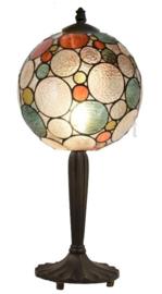 8186 Tafellamp Zwart H47cm met Tiffany kap Ø25cm Endless