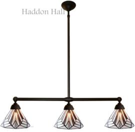 5899 Hanglamp B90cm met 3 Tiffany kappen Ø25cm Astoria Brown