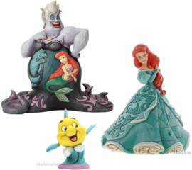 Ariel - Set van 3 beelden - Ursula, Ariel Treasure Keeper & Flounder - Jim Shore