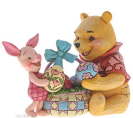 Winnie The Pooh & Piglet Easter H12cm Jim Shore 6001283