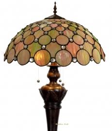 "5799 9459 *Vloerlamp Tiffany "" Bolling in de voet "" ""Pearl"""