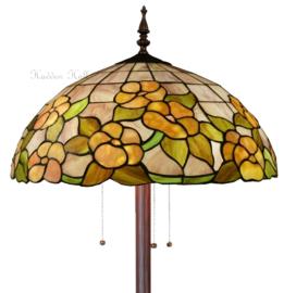 5855 Vloerlamp H164cm met Tiffany kap Ø51cm Pink Marta