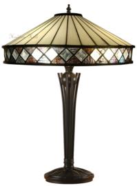 T4P40 Tafellamp Tiffany H56cm Ø40cm Fargo