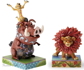Lion King TIMON & PUMBA - SIMBA H18cm Set van 2 Jim Shore beelden