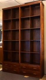 Belastingkast Boekenkast  H232cm B162cm Massief Teakhout