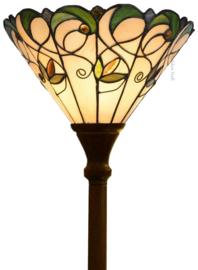 "T095S-5495 Vloerlamp Uplicht met Tiffany kap Ø30cm ""Jamelia"""