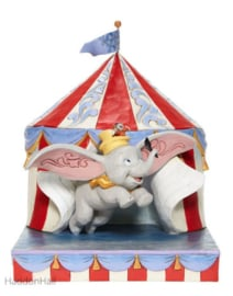Dumbo Flying out of Tent Scene H24cm Jim Shore  6008064