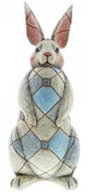 Grey Rabbit Garden Statue H40cm! Jim Shore 6001601