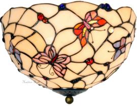 770 80 Plafonniere Tiffany Ø30cm Pink Butterfly 2xE27