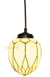 5771 Hanglamp Tiffany met textielsnoer Ø20cm Lelie