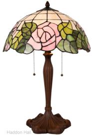 5912 Tafellamp Tiffany H61cm Ø40cm Bleikur
