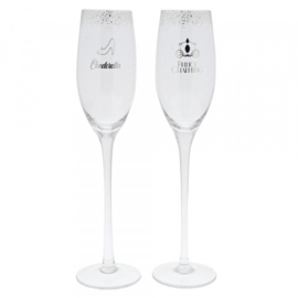 Cinderella Wedding Toasting Glasses H28cm Enchanting Disney A29339