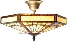 5736 Plafonniere Tiffany Ø40cm Art Deco motief